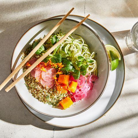 salad in a ceramic bowl