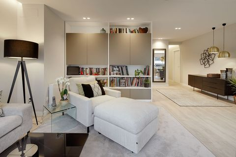 modern design lounge decorated in neutral tones