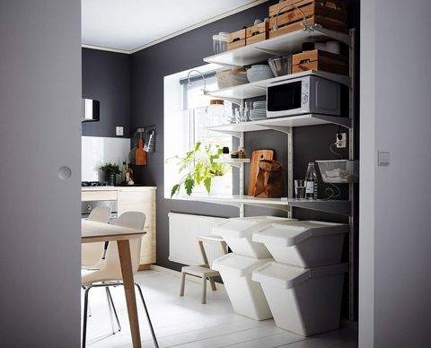 Kitchen: IKEA Stackable Waste Recycling Bins
