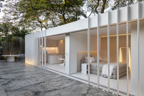 sustainable design modular house in white
