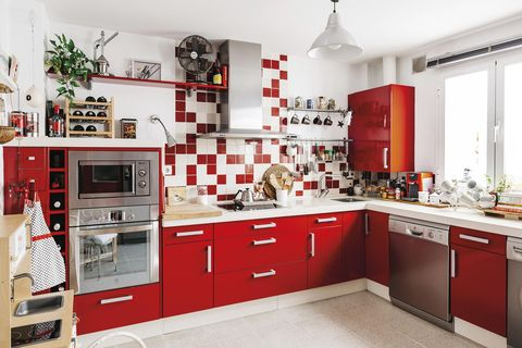Cooking before and after: Before in red
