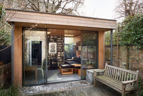 independent modern design studio in the garden