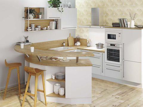 Kitchen with a semicircular bar