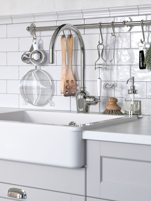 white sink with exposed front from the new ikea 2021 catalogue