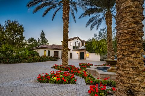 entrance to the tuscan style house of sylvester stallone