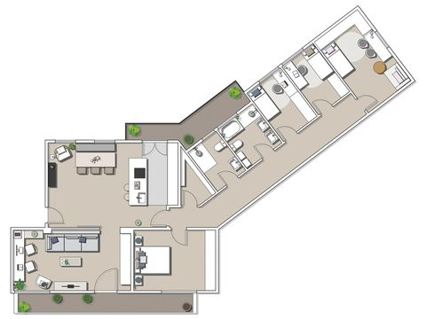 modern white flat