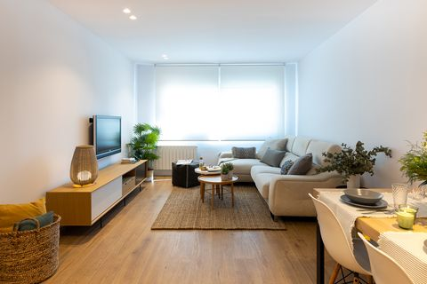 Nordic style open living room