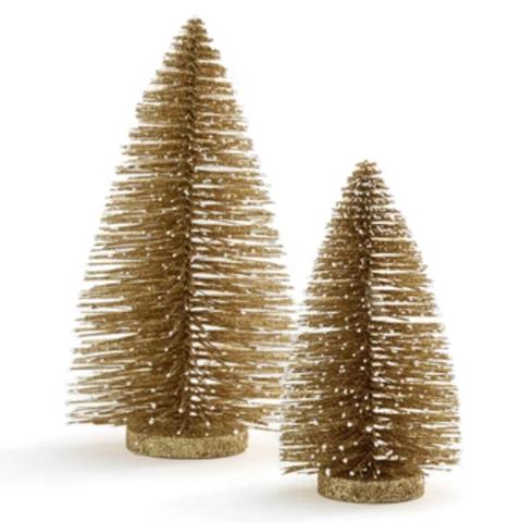 Small Christmas tree diameter 13 cm, height 23 cm Large Christmas tree diameter 16 cm, height 35 cm