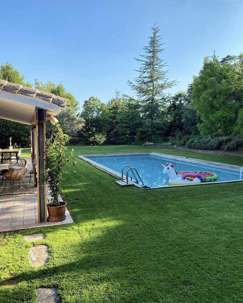 pool at bibiana fernández's house