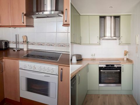 renovated kitchen without work