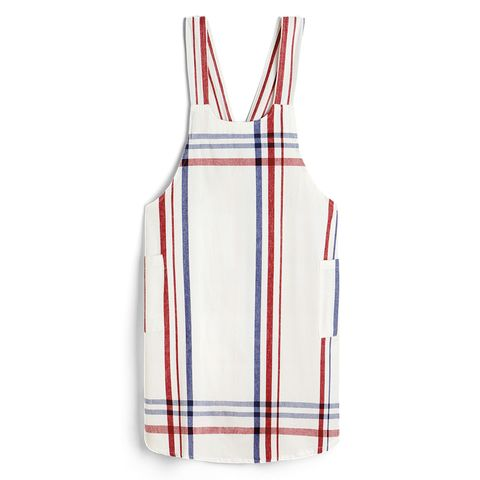 Printed cotton apron for safe cooking