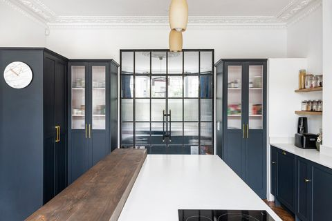 glass doors in kitchen