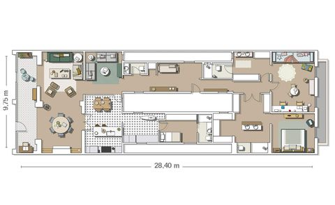Renovated apartment in barcelona floor plan