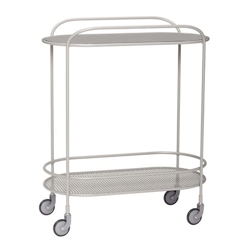 steel auxiliary cart with wheels
