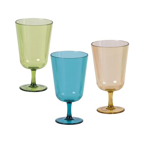 set of glasses, tocca model, colored