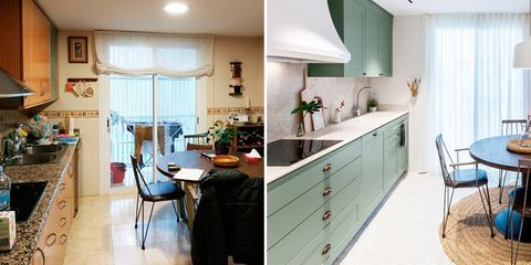 a Provencal-style kitchen, before and after