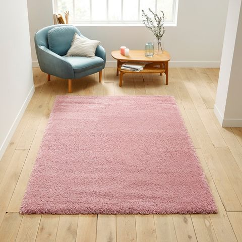 pink shaggy rug from la redoute