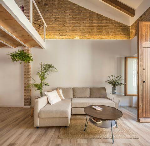 sofa in l in beige