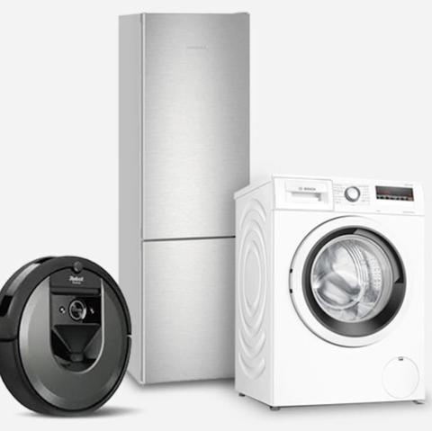 vacuum cleaner, fridge and washing machine