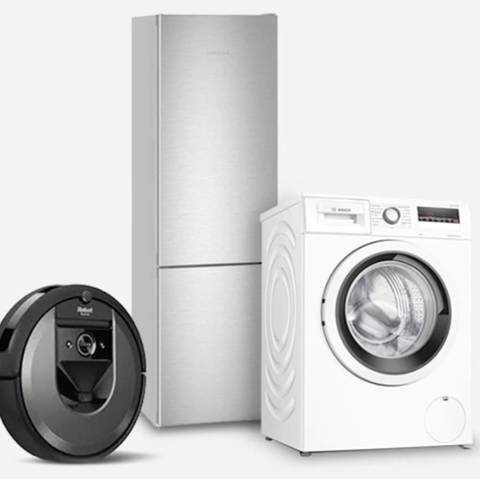 vacuum cleaner, fridge and washing machine