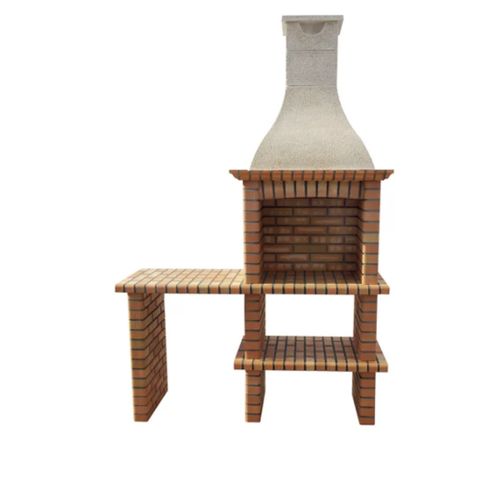 brick barbecue with two heights