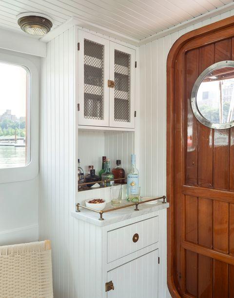 white wooden bar cabinet