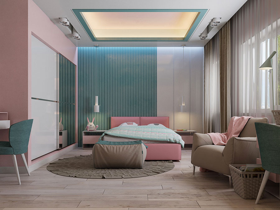 Ideas for decorating a pink bedroom n.07