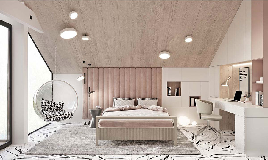 Ideas for decorating a pink bedroom # 29