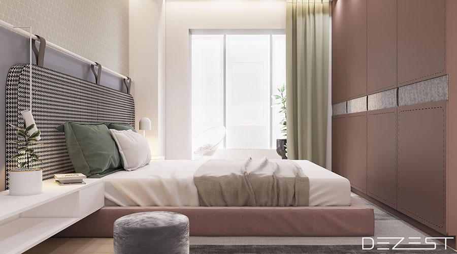 Ideas for decorating a pink bedroom # 24
