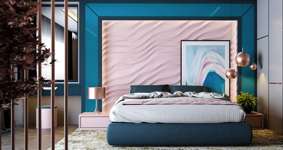 Ideas for decorating a pink bedroom # 08
