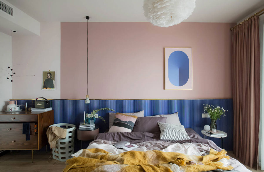 Ideas for decorating a pink bedroom # 21