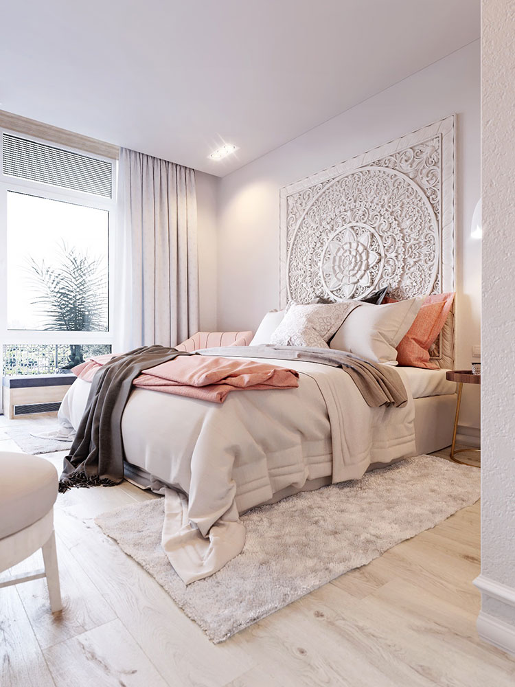 Ideas for decorating a pink bedroom # 25