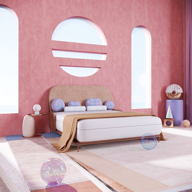 Ideas for decorating a pink bedroom # 14