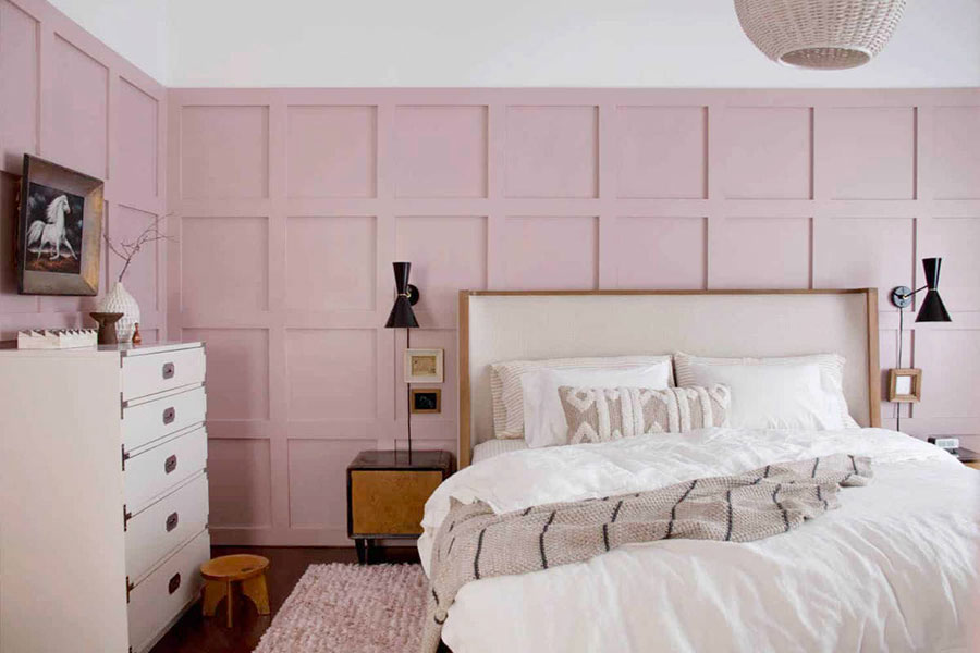 Ideas for decorating a pink bedroom # 17