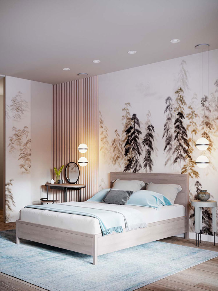 Ideas for decorating a pink bedroom # 22