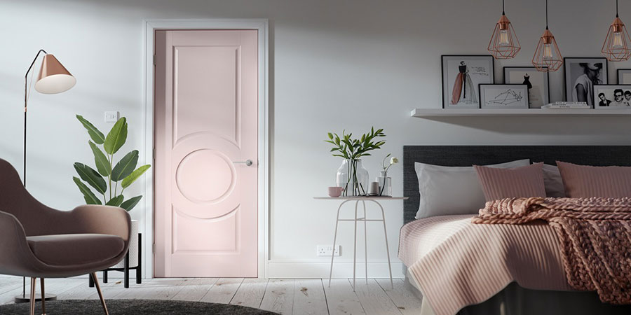 Ideas for decorating a pink bedroom # 26