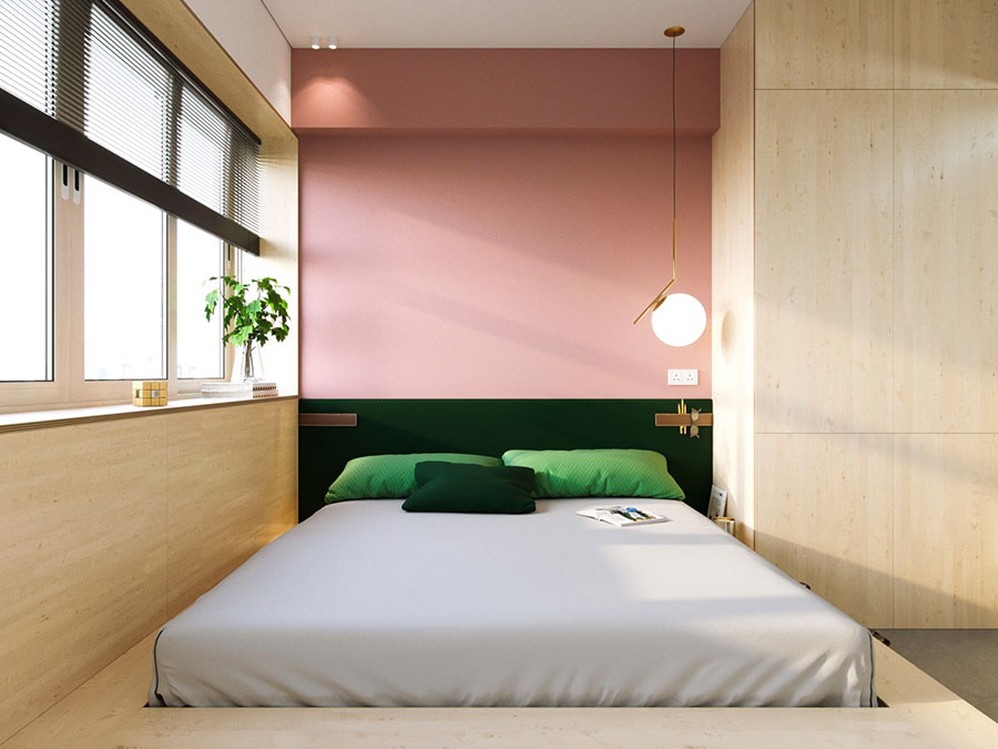 Ideas for decorating a pink bedroom # 15