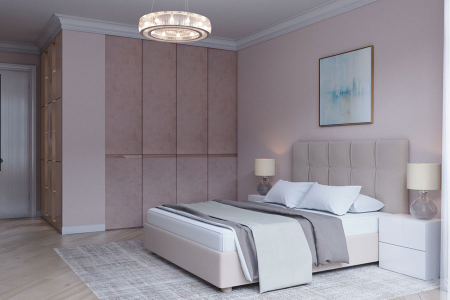 Ideas for decorating a pink bedroom # 19
