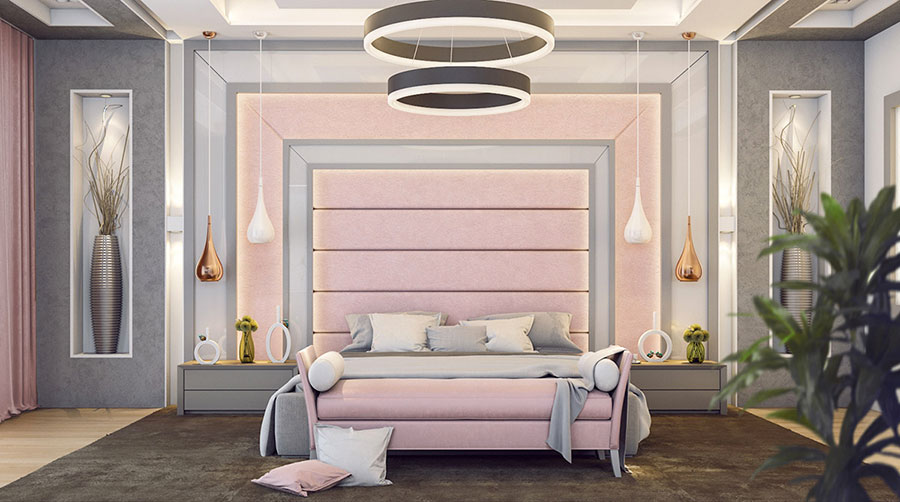 Ideas for decorating a pink bedroom n.09