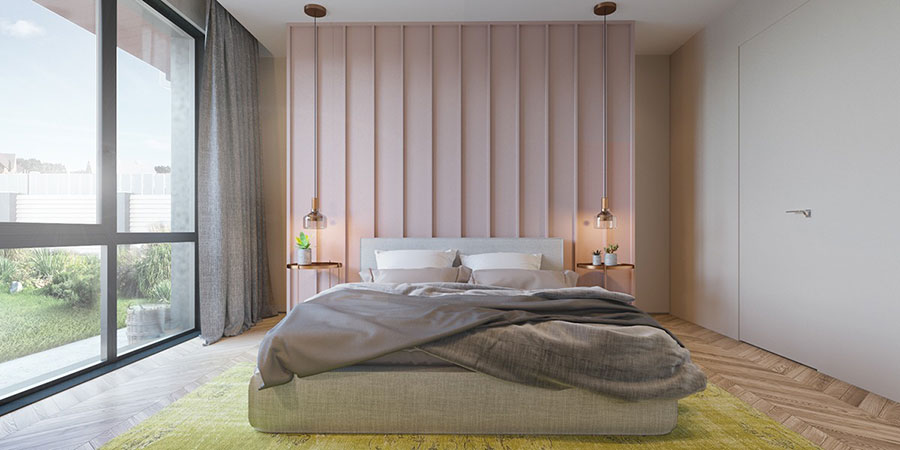 Ideas for decorating a pink bedroom # 02