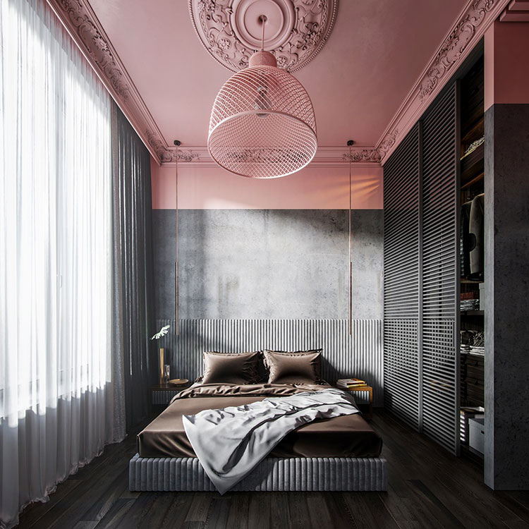 Ideas for decorating a pink bedroom # 12