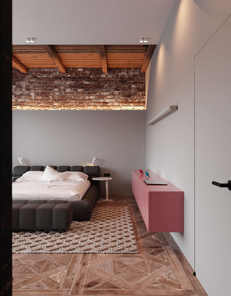 Ideas for decorating a gray and pink bedroom # 10