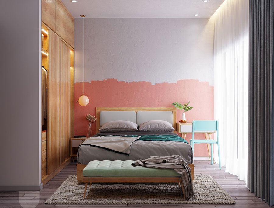 Ideas for decorating a pink bedroom # 16