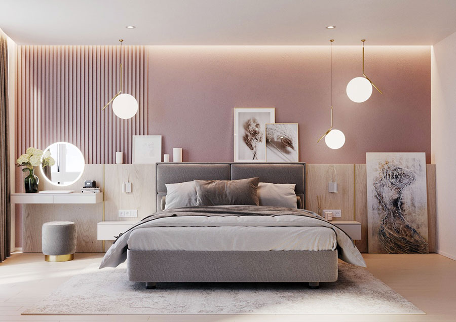 Ideas for decorating a pink bedroom n.01