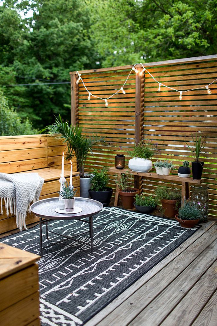Ideas for embellishing a terrace with fabrics n.5