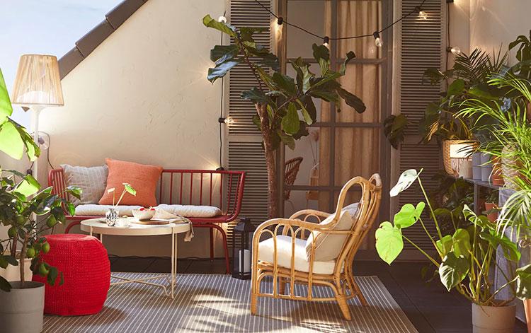 Ideas for decorating an Ikea balcony n.04