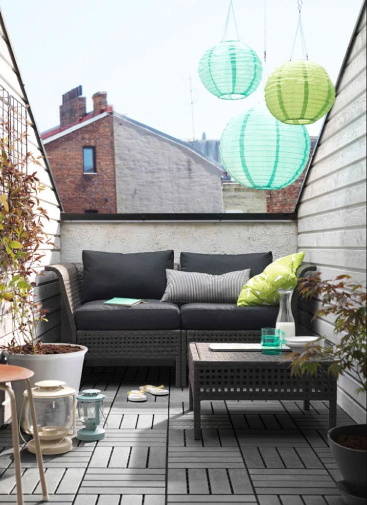 Ideas for decorating an Ikea balcony n.02