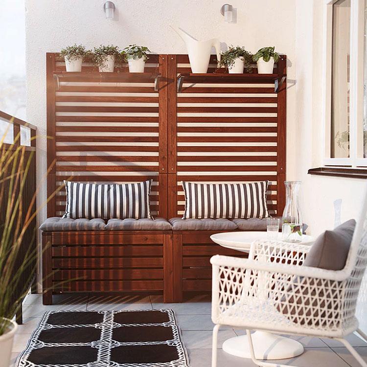 Ideas for decorating an Ikea balcony n.01