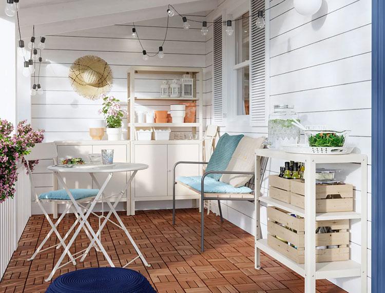 Ideas for decorating an Ikea balcony n.03