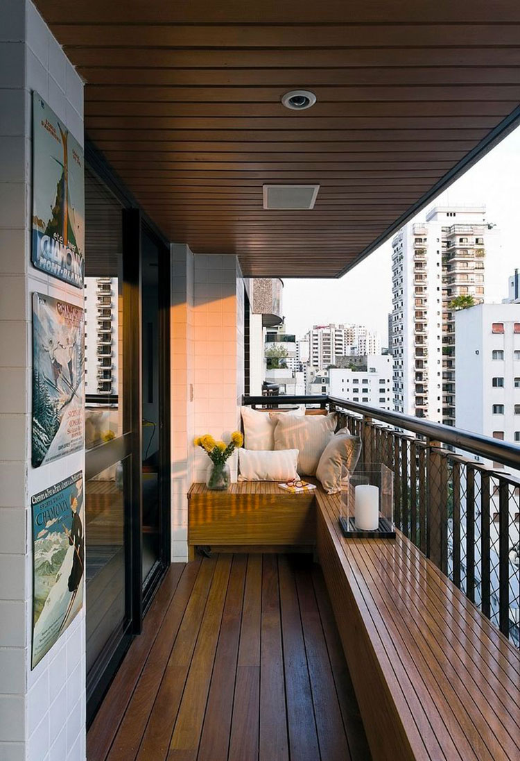 Ideas for furnishing a narrow and long balcony n.03